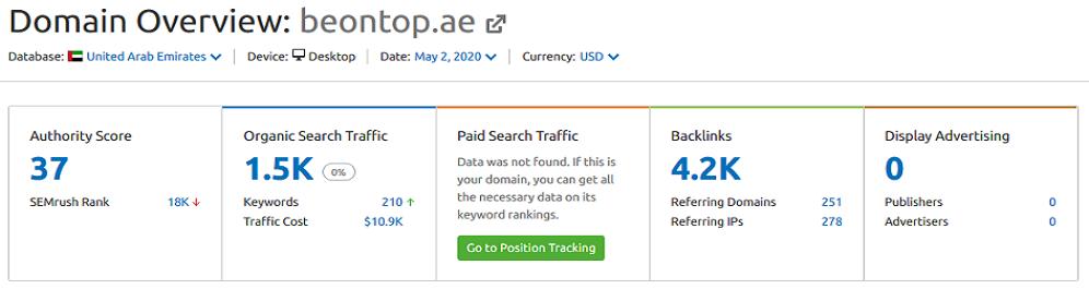 beontop-SEO Dubai - Top SEO Companies in Dubai - A List in Google Search Results